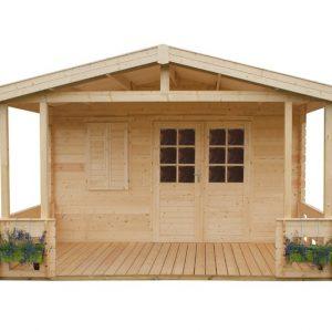domek ogrodowy z tarasem A 775 Monero Ogrody 1