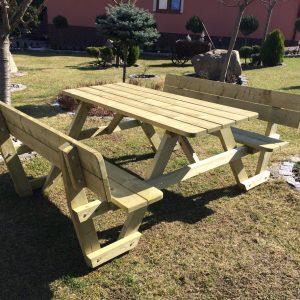 stol piknikowy z oparciem Monero Ogrody 1